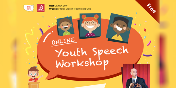 ONLINE: 2020 DFW Youth English Speech Contest